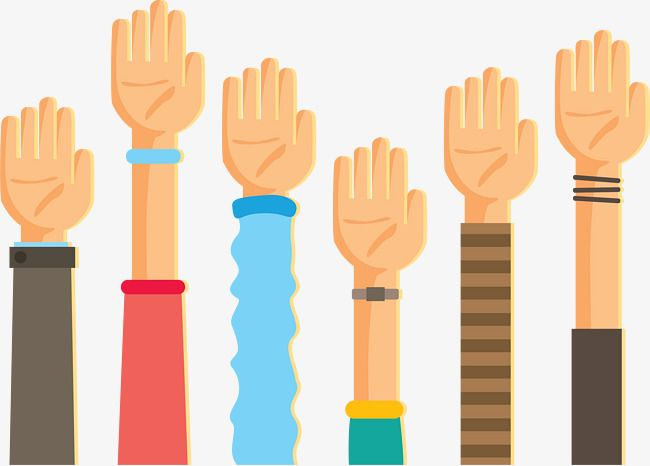 The Cartoon Raised His Arm To Speak Cartoon Vector Hands Up Arm Png And Vector With Transparent Background For Free Download Cartoons Vector Cartoon Flat Illustration