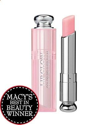 Dior Addict Lip Glow Dior Addict Lip Glow responds to the color chemistry of your lips to create a shade that is uniquely yours. Smooth it on to moisturize, add sun protection and enhance your natural lip color. 2012 Macys Best in Beauty Award Winner $30