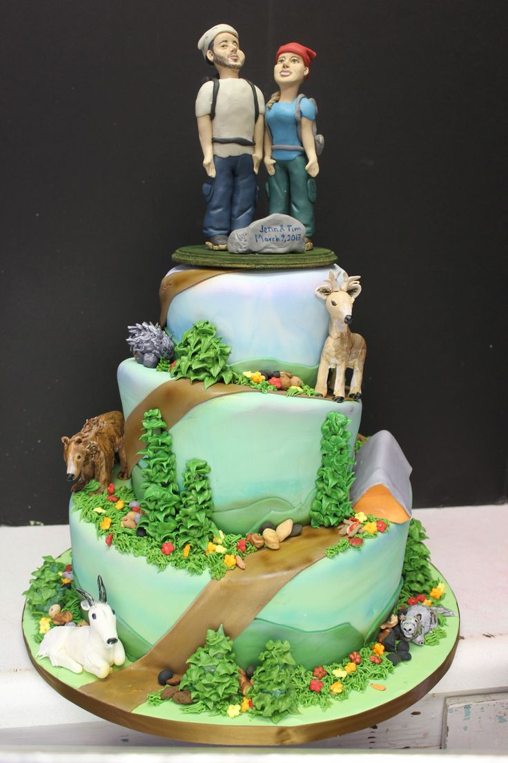 nature themed wedding cake ideas 57 best images about hiking cakes ideas on 17723