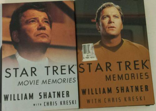 STAR TREK MEMORIES BOOK 1993 William Shatner Star Trek Movie Memories 1994 lot 2