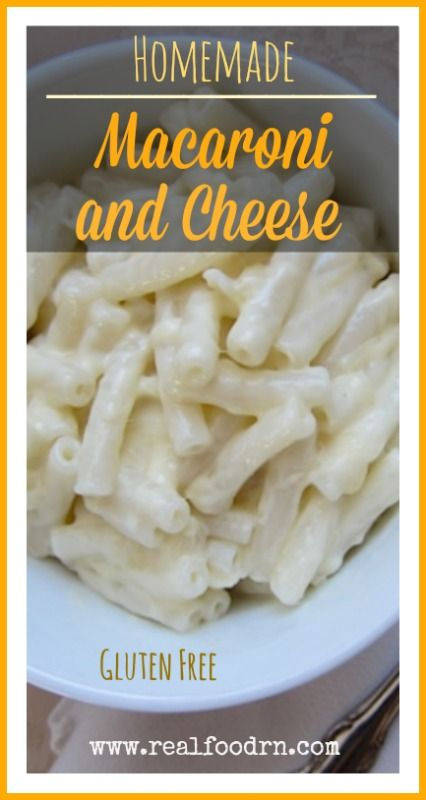 Homemade Macaroni and Cheese {gluten-free}. Easy to make with only a few healthy ingredients. My kids love this recipe! Every time I make it there are clean plates afterward! realfoodrn.com