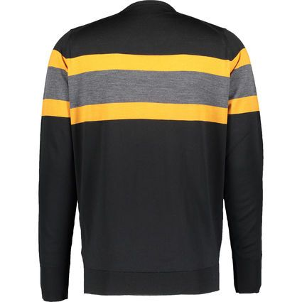 Black & Apricot Striped Jumper