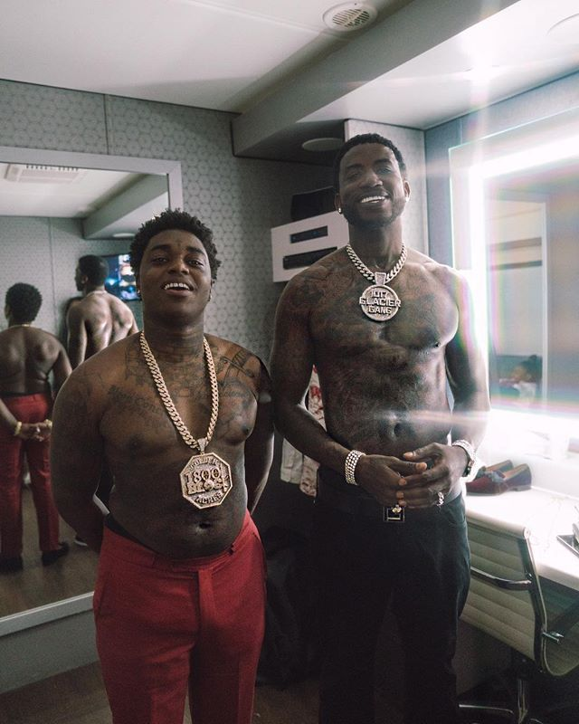 d7e3e61c2 #GucciMane (How I look with my body shaper on) . #KodakBlack (How I look  when I take my body shaper off) #IceCreamConvos.com