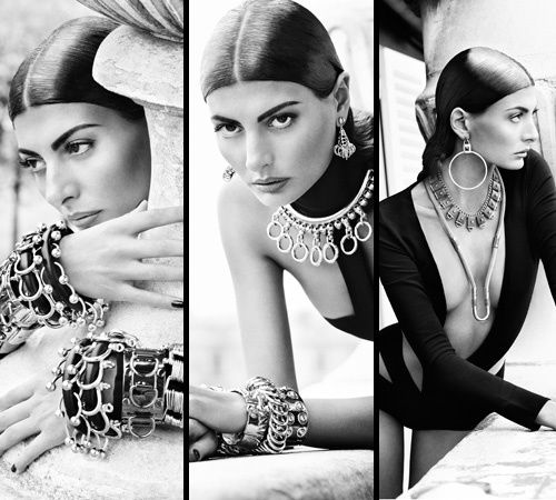 Giovanna Battaglia in Eddie Borgo jewelry.  only repinned this cause she has my last name !