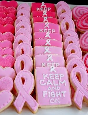 Decorated Cookies For Breast Cancer Awareness Month