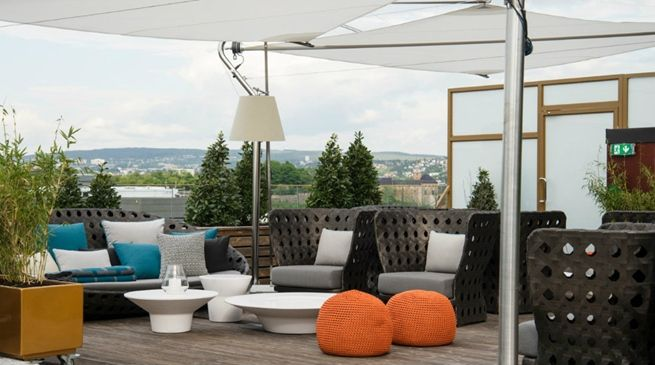 #terrace at Hotell Oslo - The Thief