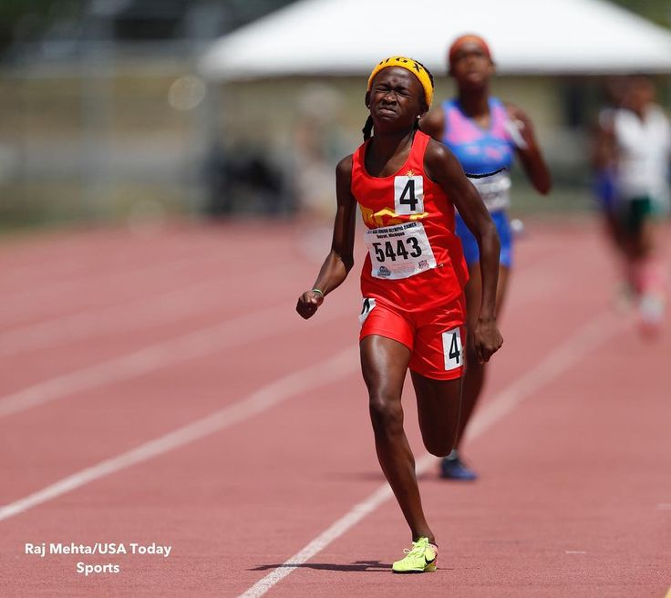 Cha'iel Johnson is  with gold medals  in both the 800m & 1500m at the AAU Junior Olympic Games! Look for her in the 400m final on Saturday!  Raj Mehta / USA Today Sports . . . . #aau #trackandfield #aautrackandfield #aaujrogames #2:13 #800m #4:43 #1500m #400m #justgettingstarted #only12yearsold