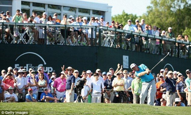 Good start: JB Holmes tee's off at the 17th during the final round of the Wells Fargo Championship