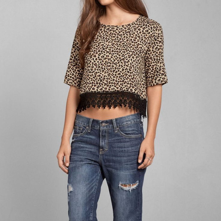 Womens Abra Cropped Tee | Womens New Arrivals | Abercrombie.com