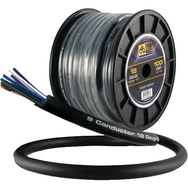 DB Link STMC918G100 18-Gauge 9 Multiconductor Speaker Wire with Remote Trigger, 100ft