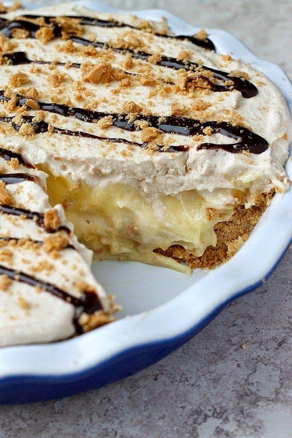 Peanut-Butter Banana Cream Pie