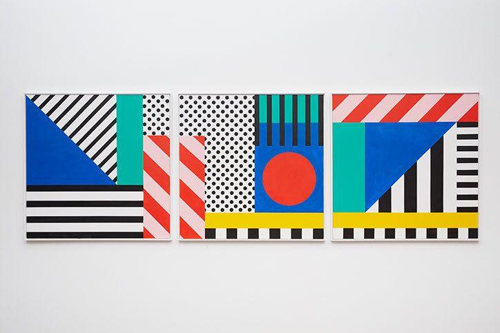 Paul Plews: She Lights Up the Light - Refuge-Exhibition #color #pattern #stripes