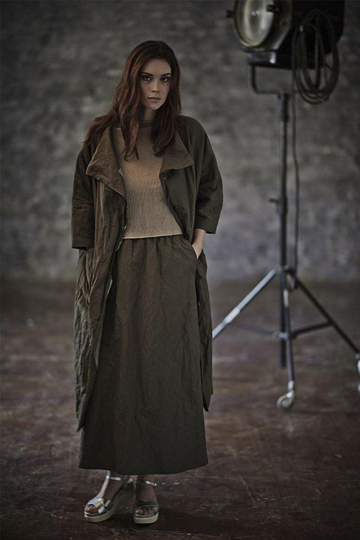 Купить ЮБКА КОНИЧЕСКАЯ ЖАТКА на подкладке от Lesel (Лесель) дизайнер одежды