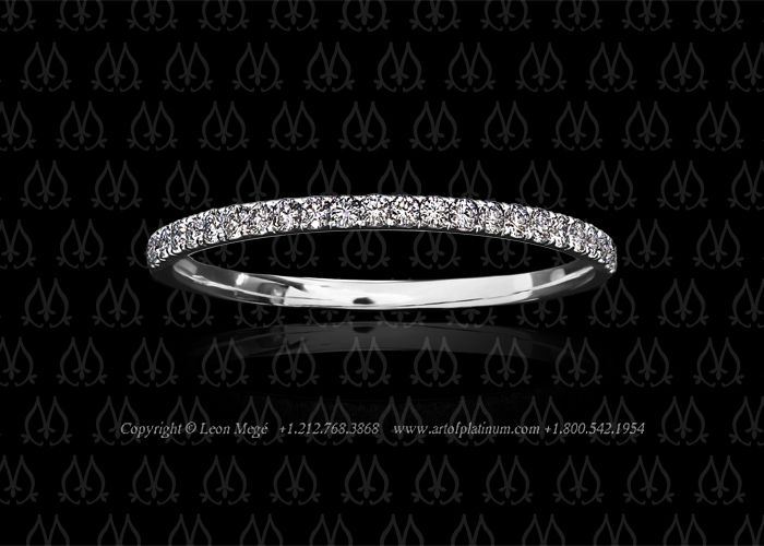 I really love very thin diamond wedding bands- this is an example