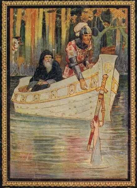 Arthur finds the sword, from 'King Arthur and the Knights of the Round Table', by Doris Ashley, published 1921
