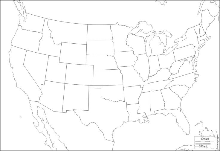 United States of America (USA) : free map, free blank map