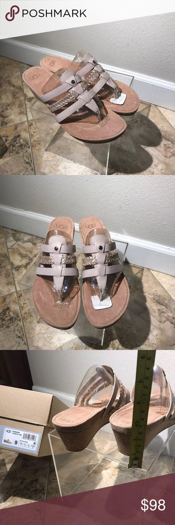 Ugg flip flops size 9 Maddie sandals Nib women's Ugg flip flops / Slides / Sandals Women's Shoes Size 9 Maddie beige UGG Shoes Sandals