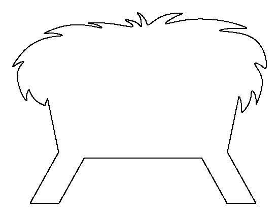 Manger pattern. Use the printable outline for crafts, creating stencils, scrapbooking, and more. Free PDF template to download and print at http://patternuniverse.com/download/manger-pattern/