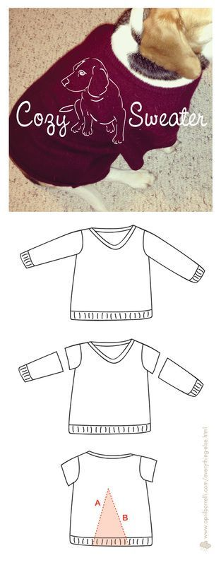 Re-purpose a shrunken sweater into fashionable duds for your furry friend!