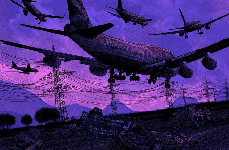 """i don't remember. did we take this flight together? did you see the wings fold together?""  by Daniel Danger      tinymediaempire.com"