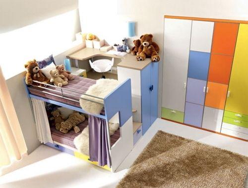 Bunte Kinderzimmermöbel Hochbetten Mädchen