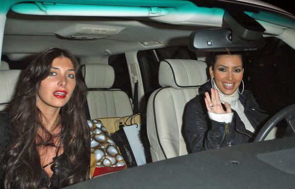 Kim Kardashian and Brittny Gastineau Leave Mr. Chow
