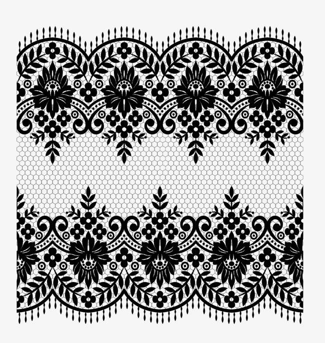 Vector Lace Material Lace Vector Lace Black Png Transparent