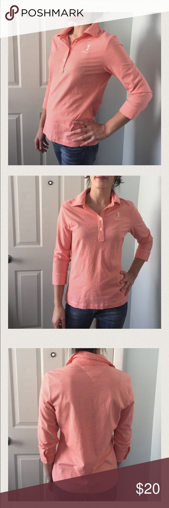 🔴size Small Tommy Hilfiger Sawgrass shirt This shirt is so soft it's unbelievable!  And it doesn't seem to wrinkle.  Tommy Hilfiger Golf shirt. Size S, Sawgrass.  Gently pre owned. 🌻prices are negotiable - please feel free to make me an offer!  I also give great discounts when you make offers on bundled purchases!! 🌟 Tommy Hilfiger Tops