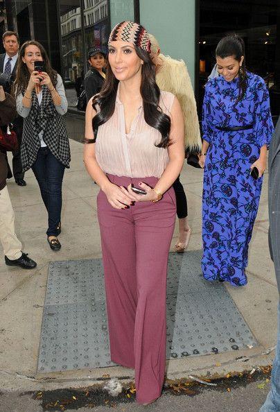 More Pics of Kim Kardashian High-Waisted Pants