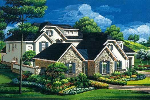 Planes europeos casa de estilo - 5494 pies cuadrados de construcción Home, de 2 pisos, 5 dormitorios y 5 3 cuartos de baño, 3 garaje puestos por planes de vivienda del monstruo - Plan de 19-1747