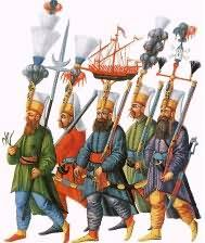 Military leaders were very powerful in the Ottoman Empire. Turkish horsemen were excellent warriors. When the Ottoman's power began shrinking, they established regional bases. Janissary troops were taken from conquered states. They knew how to use firearms and artillery, and could rock big hats.