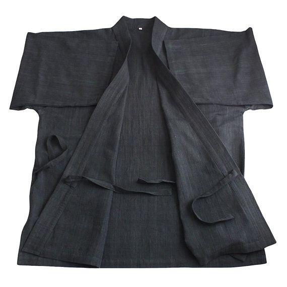 Kimono japonés de algodón de tejido de mano ChomThong Samue
