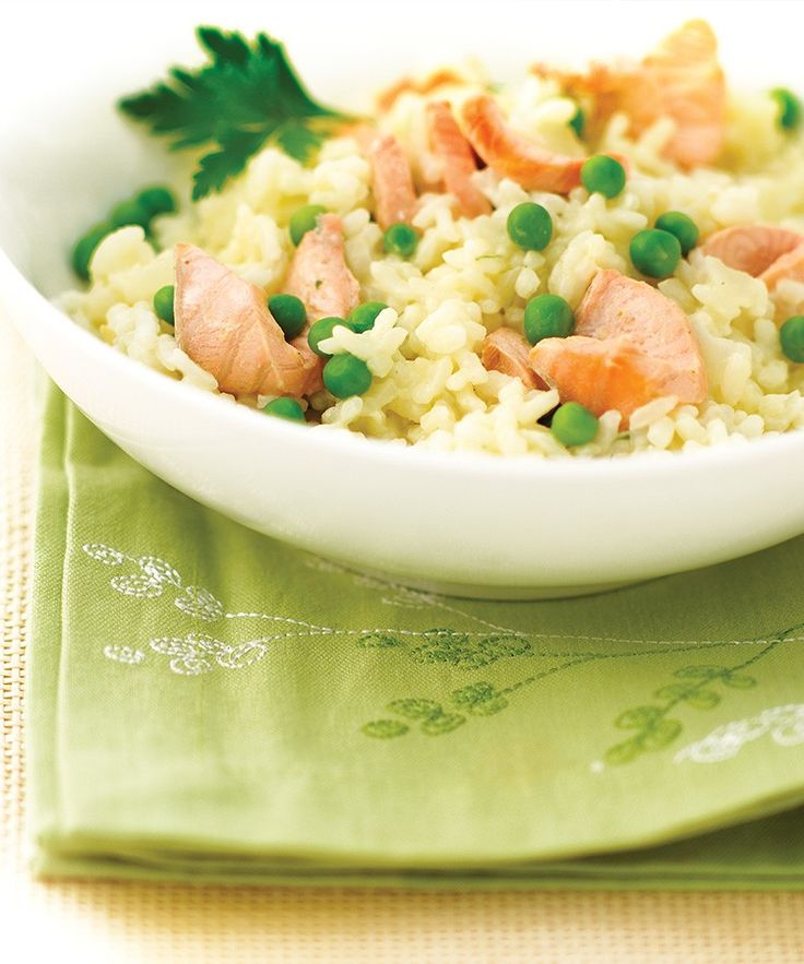 Romige risotto met gerookte zalm - www.puur-gezond.be