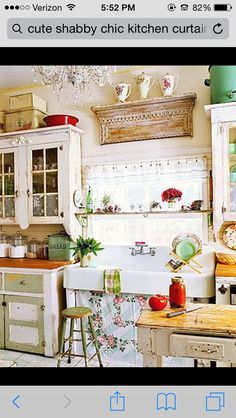 Image result for unconventional shabby kitchens