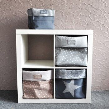 Grey glitter storage box - L is adapted to Ikea Expedit shelves