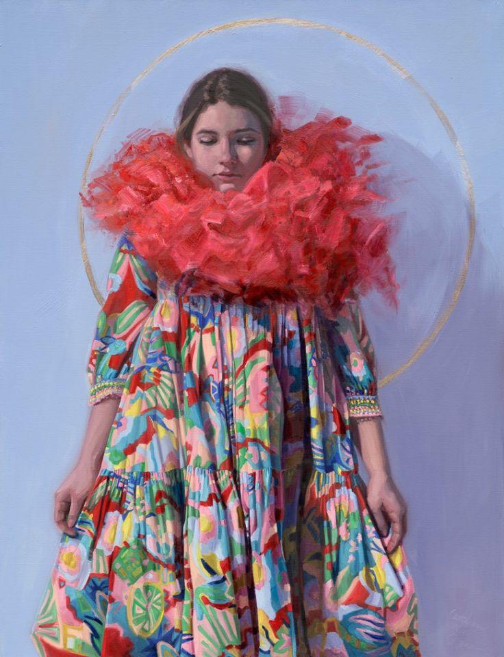Colorique, oil painting on Linnen. 100x130 cm modelpainting painted by Carolien van Olphen