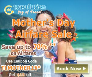 Mother's Day Airfare Sale. Book Now and Get $15 Off.