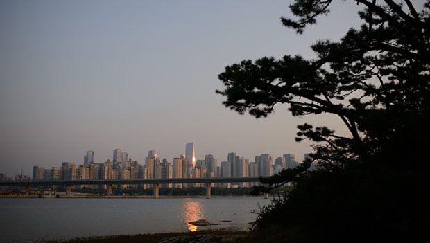 Skyline della città di Incheon