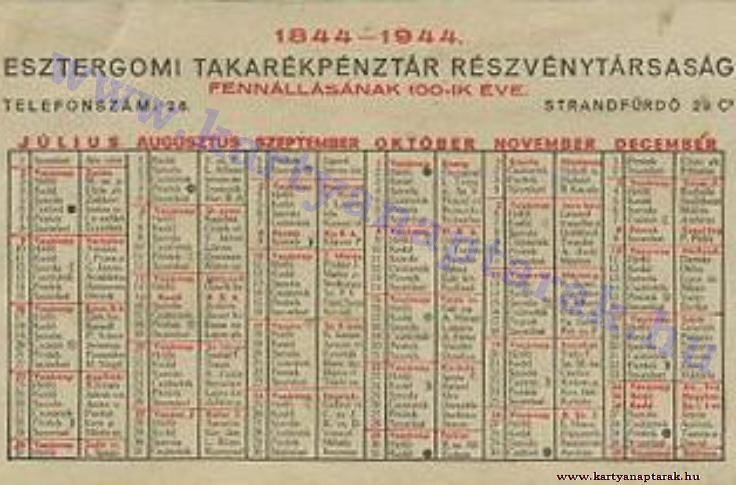 1944 - 1944_0015 - Régi magyar kártyanaptárak