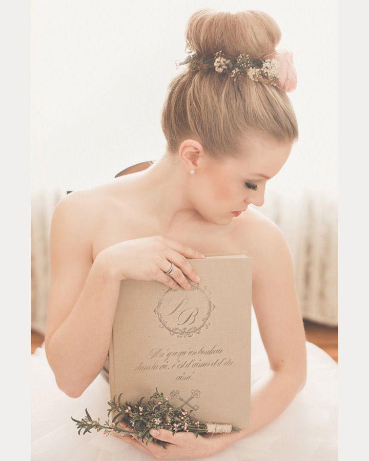 romantic ballerina bun with floral headpiece  ~  we ❤ this! moncheribridals.com