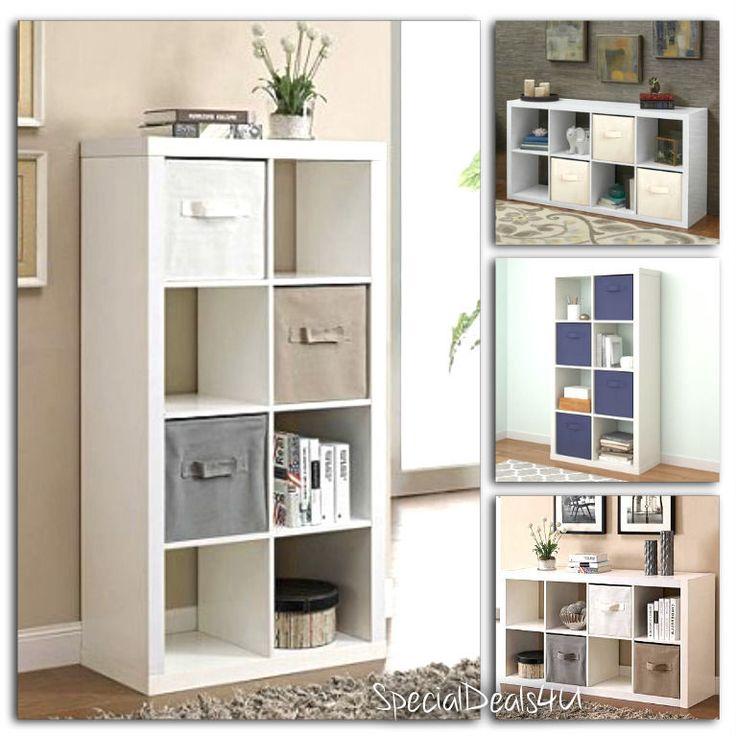 Organizer 8 Cube Multiple Versatile Storage Book Shelves Eight Bookcase Square W #SD4U #ModernContemporary