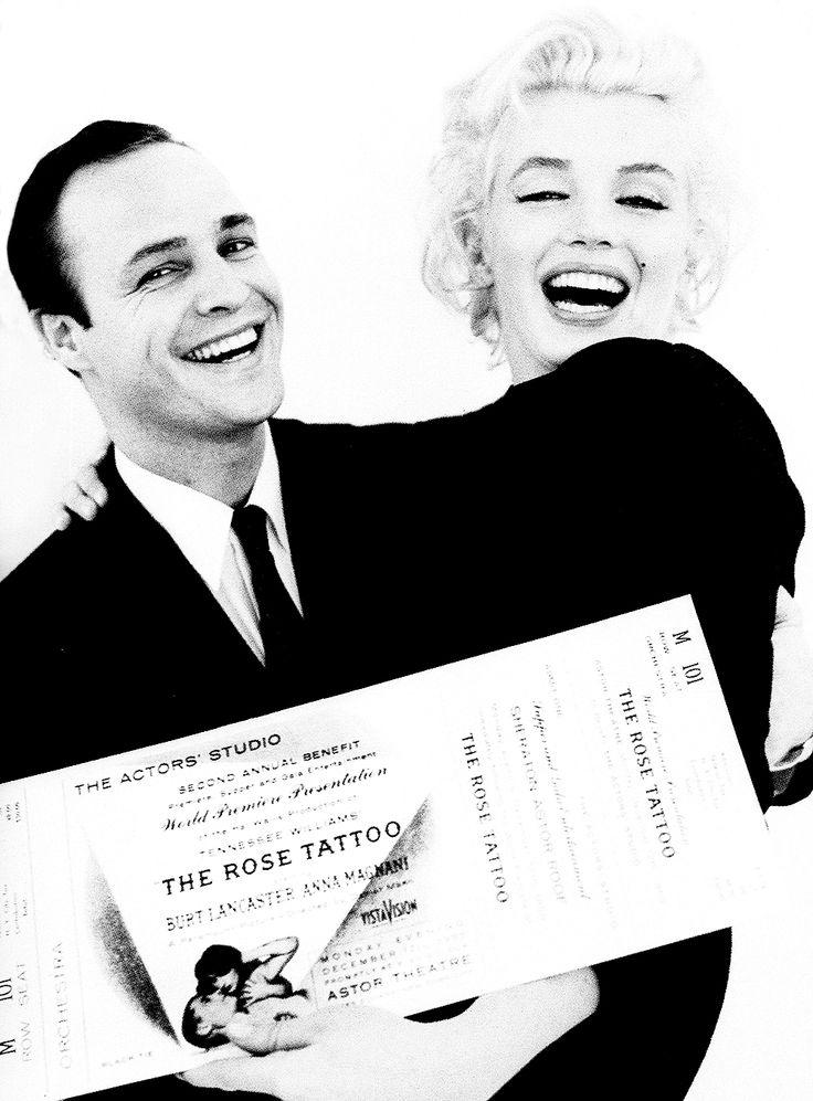 falks2011:  elsiemarina:  Marilyn Monroe and Marlon Brando photographed by Milton Greene, 1954.  what a brilliant photograph! Million dollar smiles
