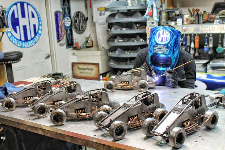 Sprint car metal art cold hard art welding miller welders race car sculpture