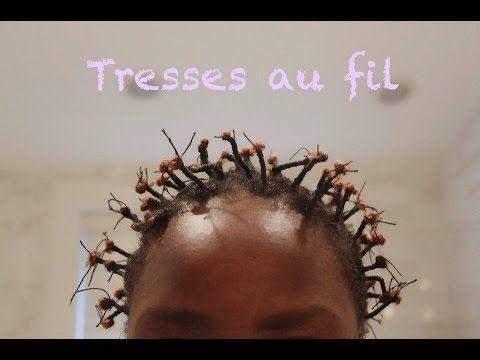TUTORIAL | Tresses au fil sur cheveux courts/ African threading hair  #african #cheveux #courts