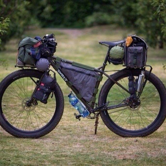"shtfpreps: "" roadbikecity: "" Travel bike #tent #cycle "" I love this bike! I wonder how much it costs """