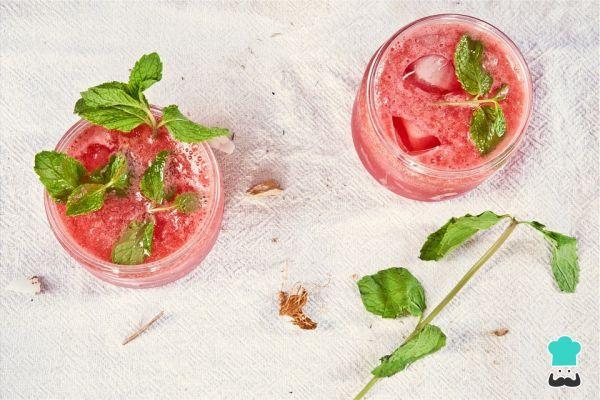 Caipiriña de fresa #RecetasGratis #Bebidas #Recetasfáciles #Cócteles #Cocktails #Caipirinha
