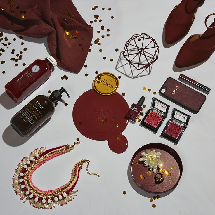 Deep Burgundy Spread  Colour is Haymes Burgandy Styling by LENZO + Photography by Fiona Storey