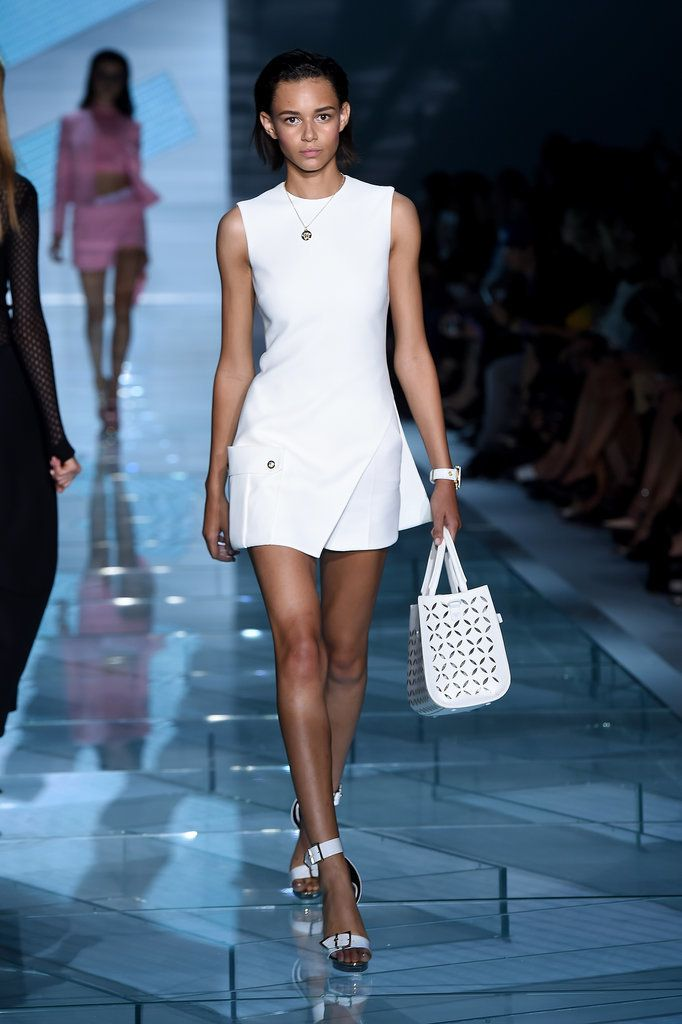 Donatella Versace's Sparkling Runway Shines Bright Like a Diamond: There's nothing subtle about a Versace show, but for Spring 2015, Donatella took overtness to a new, sparkly level.