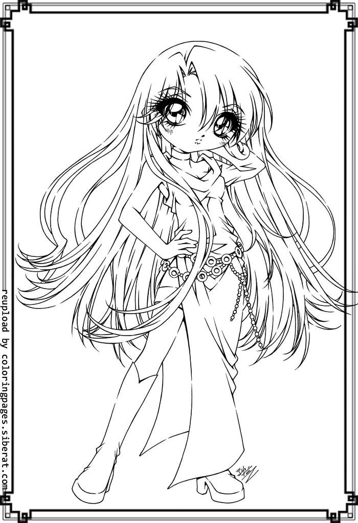 Cute Anime Girls Coloring Pages Cute Anime Coloring
