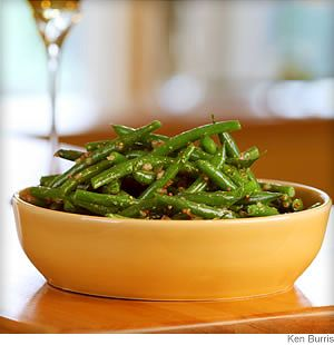 Lemon and dill vinaigrette is a natural complement to green beans. It's also great tossed with steamed asparagus or drizzled over fresh tomatoes. To be Epicured!